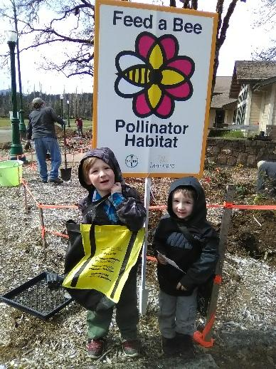 Sheri's kids on planting day